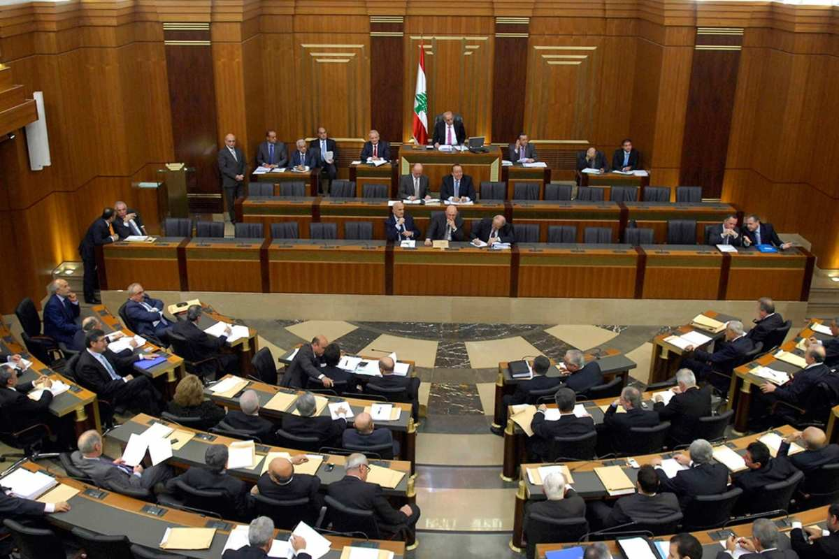 Lebanese Parliament in session