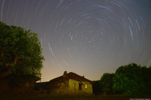 The sky is full of stars at Murat Mountain in Usak district of Turkey on 13 July 2018 [Soner Kılınç/Anadolu Agency]