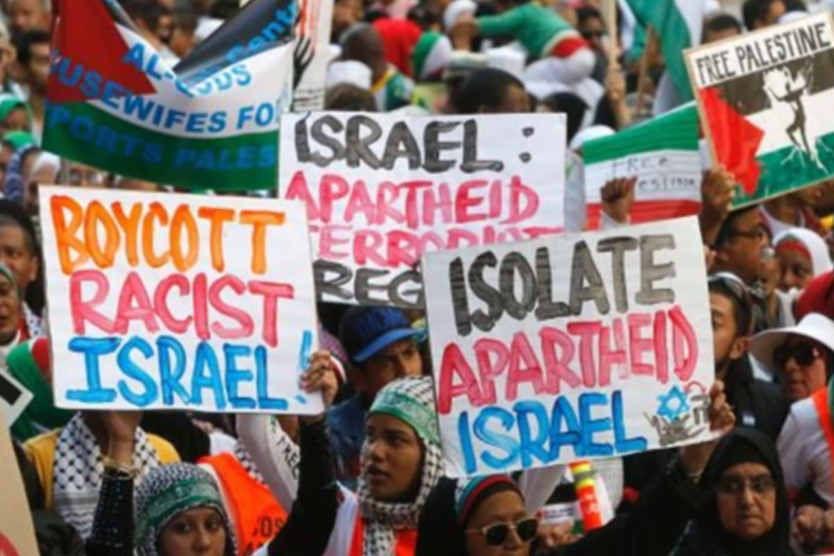 The campaign to boycott and divest from Israel aims to pressure Israel to end its abuse of the rights of the Palestinian people [Twitter]