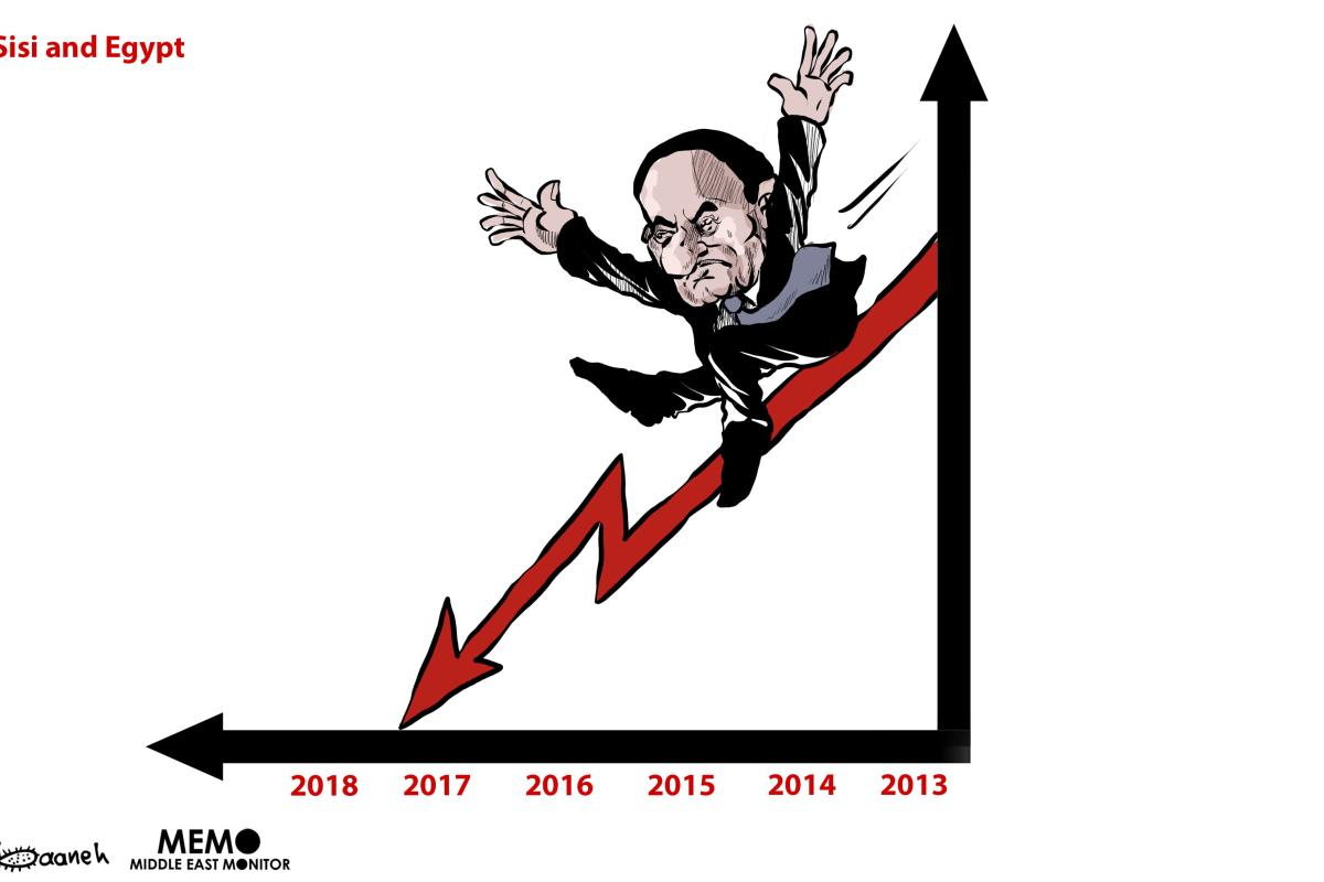 Sisi's popularity is decreasing - Cartoon [Sabaaneh/MiddleEastMonitor]