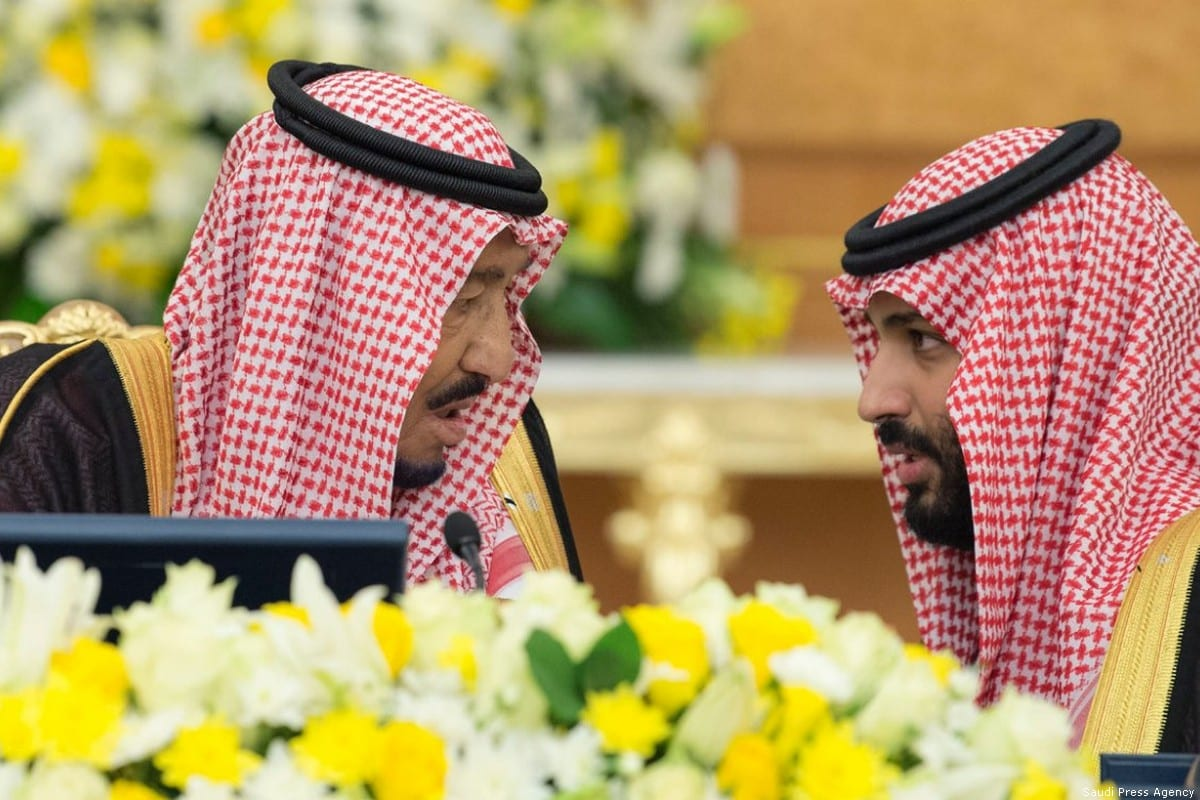 King of Saudi Arabia Salman Bin Abdulaziz (L) and Crown Prince Mohammad Bin Salman [Saudi Press Agency]