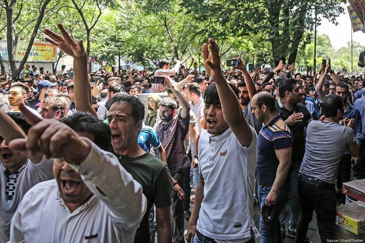 Protest in Iran [Nasser Sharif/Twitter]