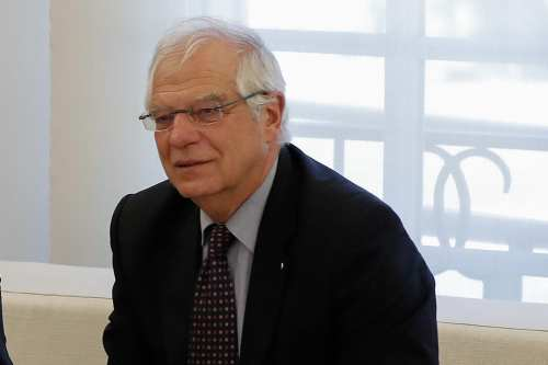 Spanish Foreign Affairs Minister, Josep Borrell seen at a meeting with the EU Chief Brexit Negotiator Michel Barnier (not seen) at Palace of Moncloa in Madrid, Spain on September 17, 2018 [Burak Akbulut / Anadolu Agency]