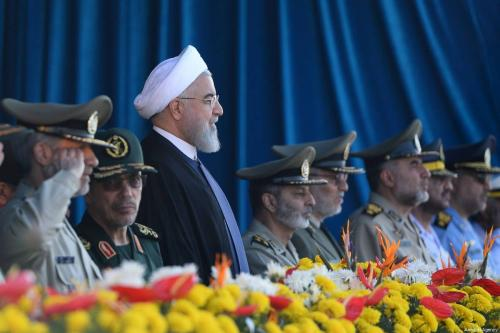 Iranian President Hassan Rouhani (3rd L) attends the celebrations to mark Sacred Defence Week at Holy Shrine of Imam Khomeini in Tehran, Iran on September 22, 2018 [Fatemeh Bahrami / Anadolu Agency]