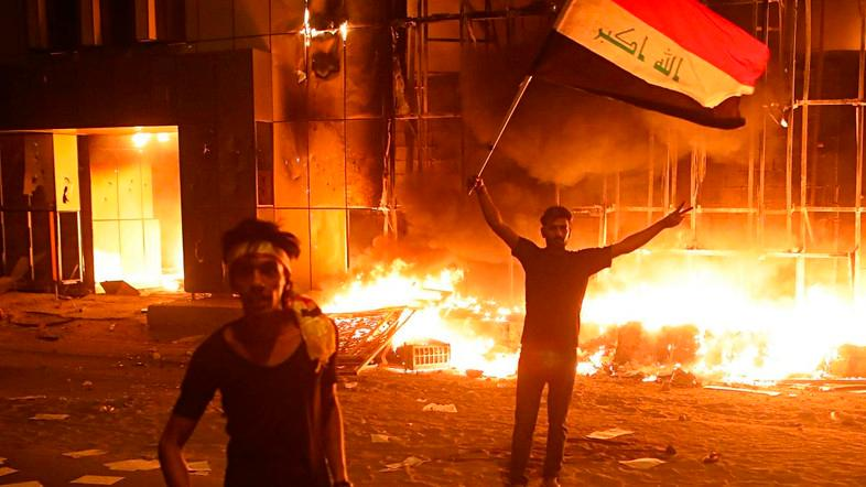 Demonstrators have targeted local government buildings and political party offices since protests intensified on Monday.