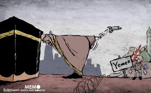 The hyprocrisy of Saudi Arabia - Cartoon [Sabaaneh/MiddleEastMonitor]