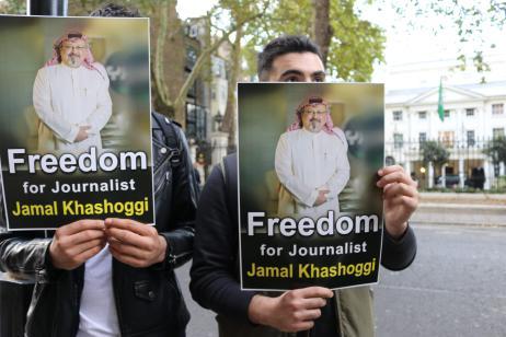 Saudi Embassy Press Conference in London [Jehan Alfarra/Middle East Monitor]