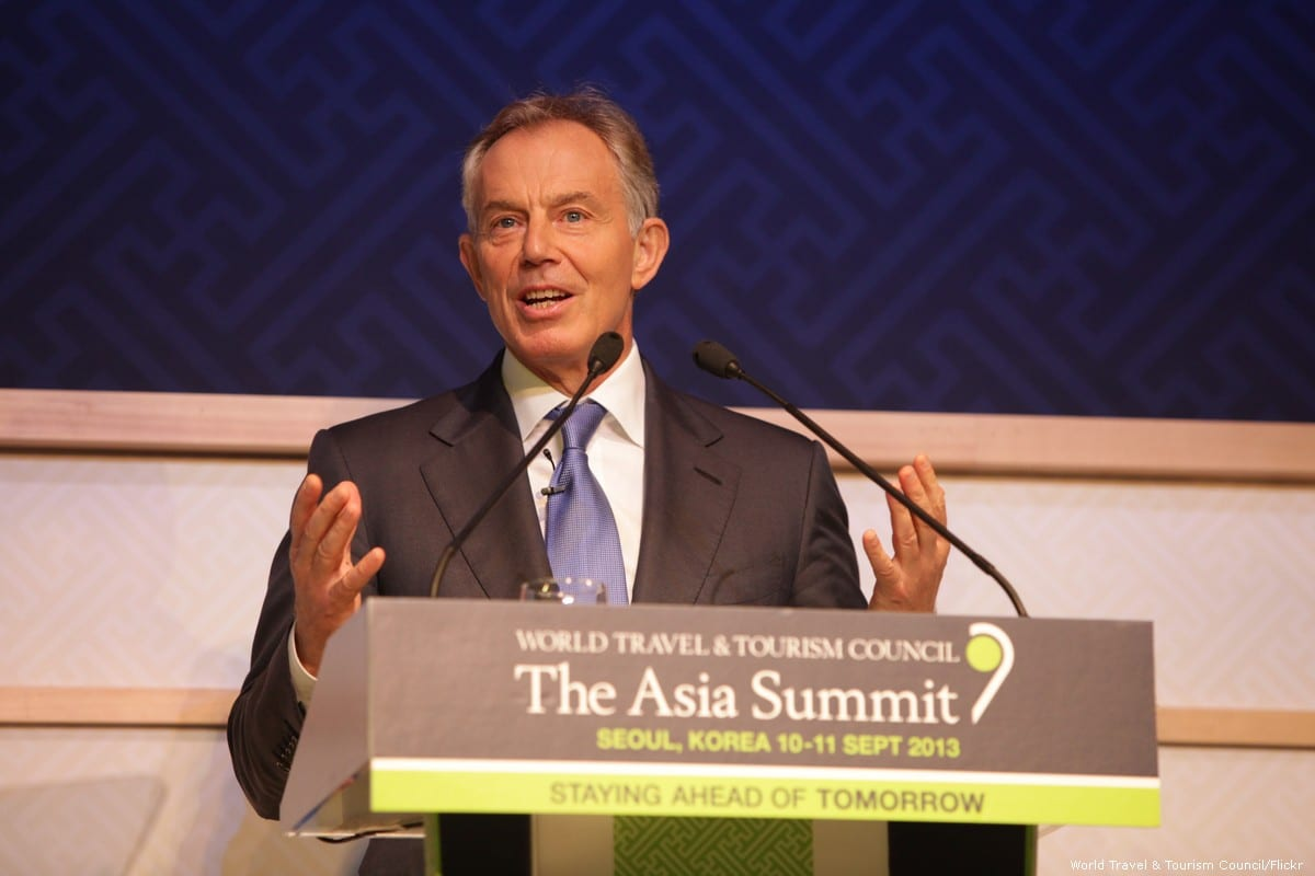 Tony Blair, former Prime Minister of the UK addresses the World Travel & Tourism Council Asia Summit on 10 September 2013 [World Travel & Tourism Council/Flickr]
