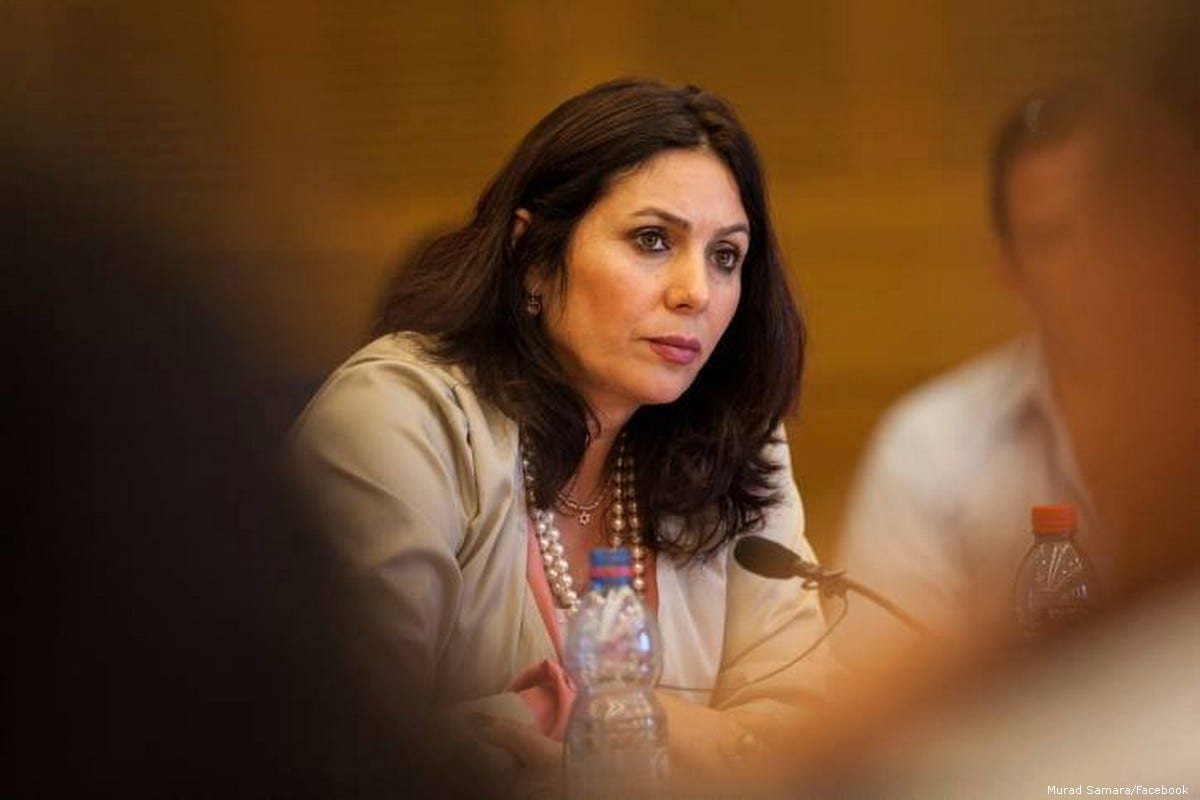 Israeli Culture Minister Miri Regev on 22 April 2014 [Murad Samara/Facebook]