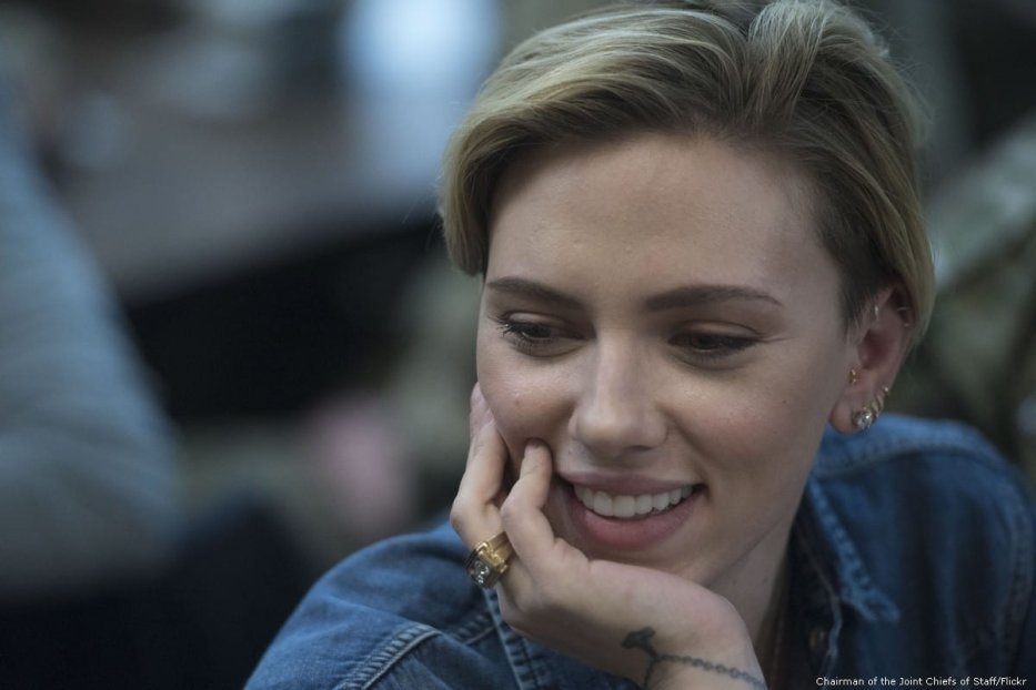 Scarlett Johansson, Scarlett Ingrid Johansson is an American actress and singer on 7 December 2016 [Chairman of the Joint Chiefs of Staff/Flickr]