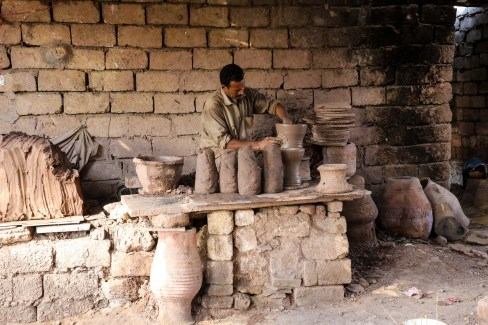 For over 20 years, the village of Lanos, Egypt has been able to put its mark in the manual pottery industry, and transfer this historical craft to fame in the Middle East and Europe [Ahmed Al Sayed/Anatolia Agency]