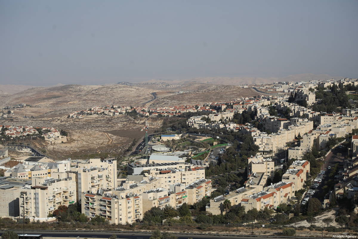 An aerial view of Pisgat Ze'ev, an illegal Israeli settlement in East Jerusalem and the largest residential neighbourhood in Jerusalem with a population of over 50,000 on October 04, 2018 [Mostafa Alkharouf /Anadolu Agency]