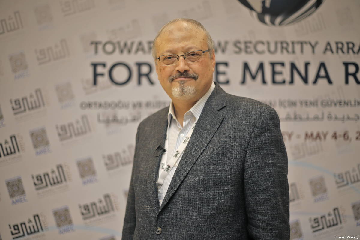A file photo dated May 6, 2018 shows Prominent Saudi journalist Jamal Khashoggi in Istanbul, Turkey [Omar Shagaleh / Anadolu Agency]