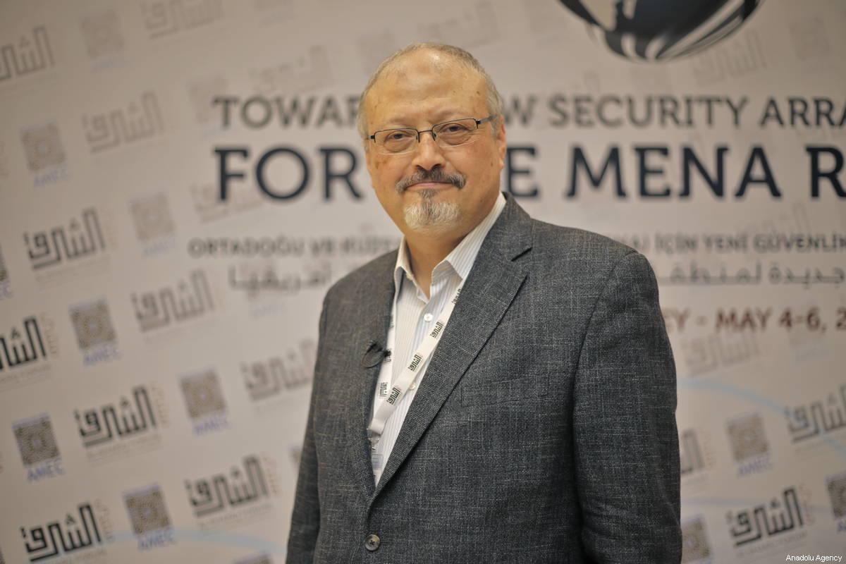 A file photo dated May 6, 2018 shows Prominent Saudi journalist Jamal Khashoggi in Istanbul, Turkey [Omar Shagaleh / Anadolu Agency]