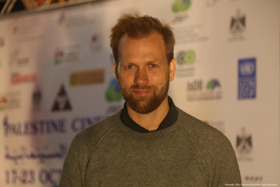 Norwegian film director Mats Grorud at Palestine Cinema Days Festival [Hamde Abu Rahma/Middle East Monitor]