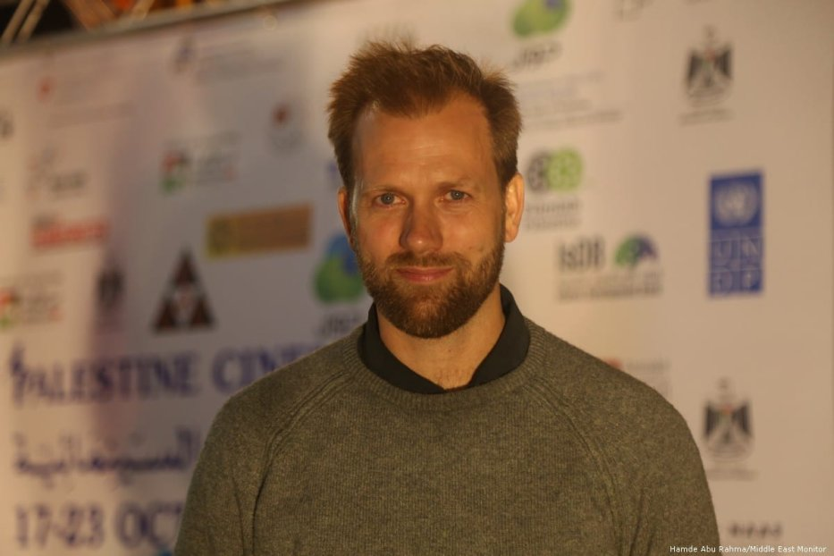 Norwegian film director Mats Grorud at Palestine Cinema Days Festival [Hamde Abu Rahma/Middle East Monitor]