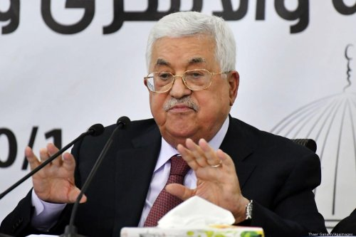 Palestinian President Mahmoud Abbas in Ramallah on 12 October 2018 [Thaer Ganaim/Apaimages]