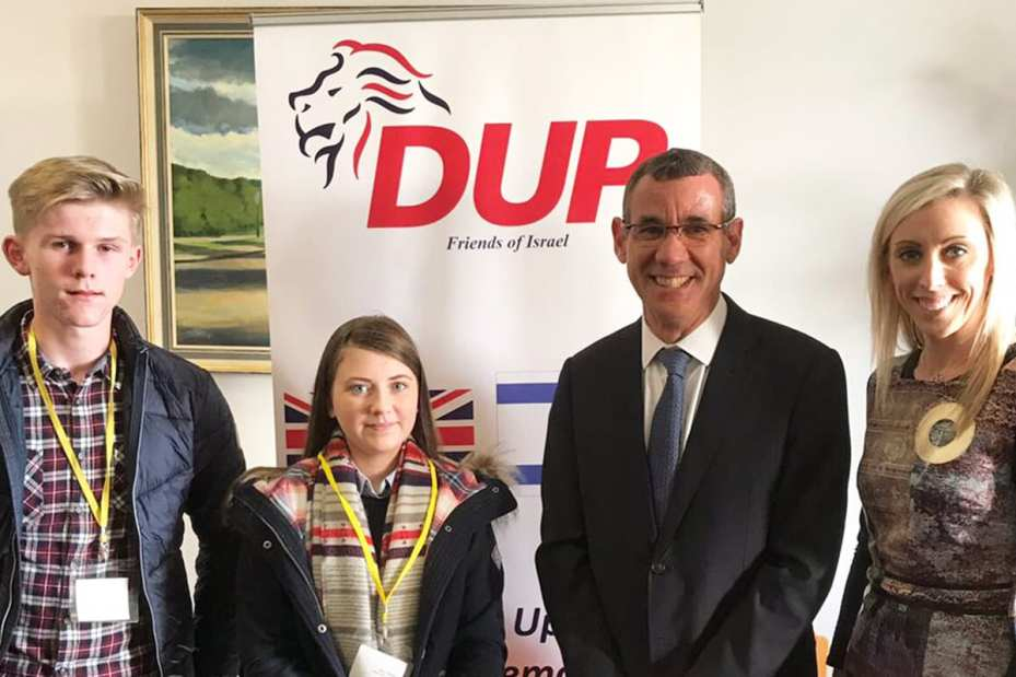The Ambassador of Israel Mark Regev hosted at the DUP in Belfast on 16 October, 2018 [Twitter]