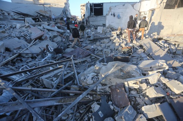 Israel strikes 80 sites across Gaza [Mohammed Asad/Middle East Monitor]