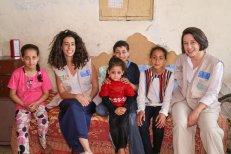 The Cycling4Gaza (C4G) (Tamara and Zara) visiting a family in Gaza (2018)
