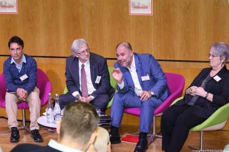 To mark the 25th anniversary of the Oslo Accords, MEMO hosted a conference in London, UK on 29 September 2018 [Jehan Alfarra/Middle East Monitor]