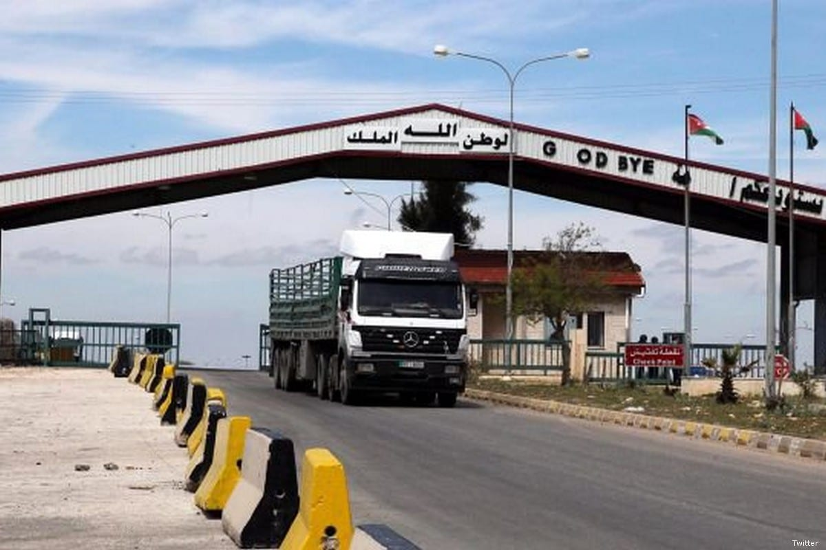 border crossing between Jordan and Syria