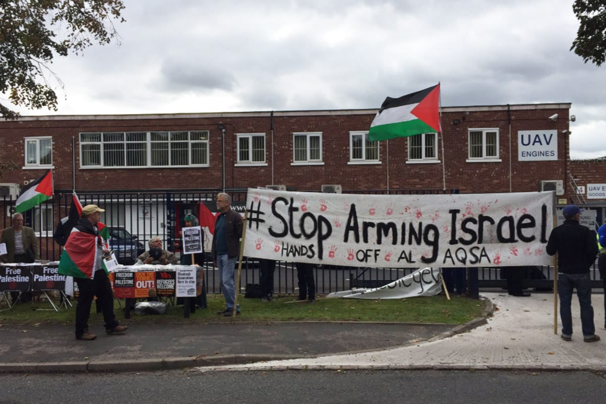 #ShutDownElbit - Protesters in the UK for closure of arms factory exported to Israel [Twitter]