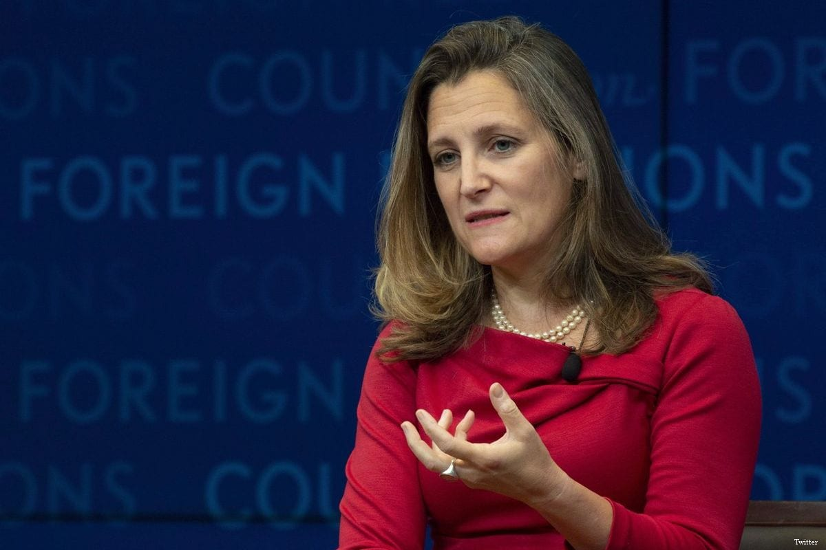 Chrystia Freeland, Canadian Foreign Minister [Twitter]