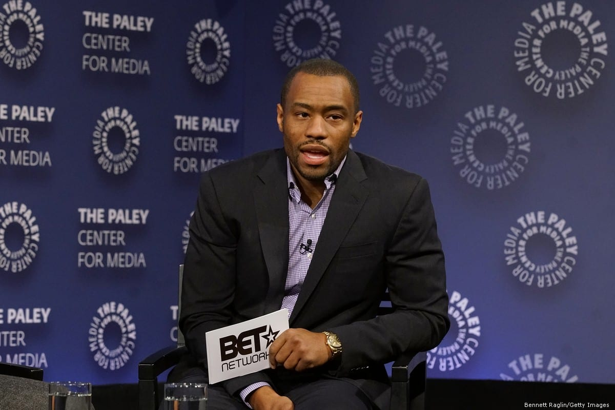 Commentator Marc Lamont Hill in New York City, US on 7 December 2016 [Bennett Raglin/Getty Images]