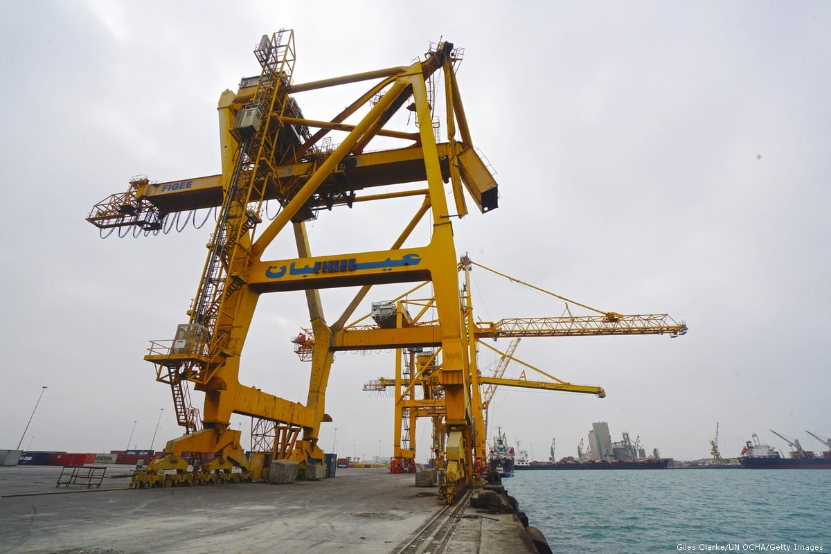 Hudaydah Port in Yemen [Giles Clarke/UN OCHA / Getty Images]