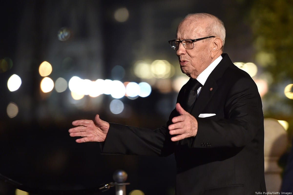 The President of Tunisia Beji Caid Essebsi 12 November 2018 in Palermo, Italy. [Tullio Puglia/Getty Images]