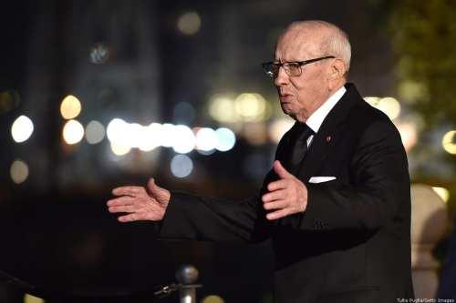 The President of Tunisia Beji Caid Essebsi 12 November 2018 in Palermo, Italy. [Tullio Puglia/Getty Images]
