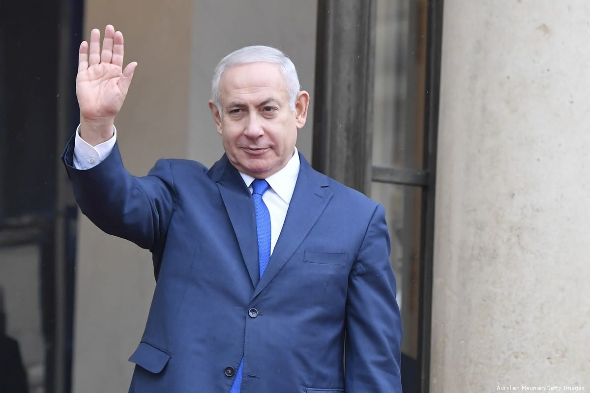 Prime Minister of Israel Benjamin Netanyahu in Paris, France on 11 November 2018 [Aurelien Meunier/Getty Images]