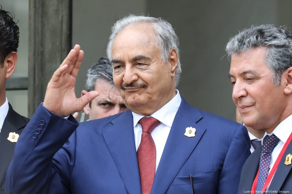 Libya Chief of Staff, Marshall Khalifa Haftar in Paris, France on 29 May 2018 [Ludovic Marin/AFP/Getty Images]