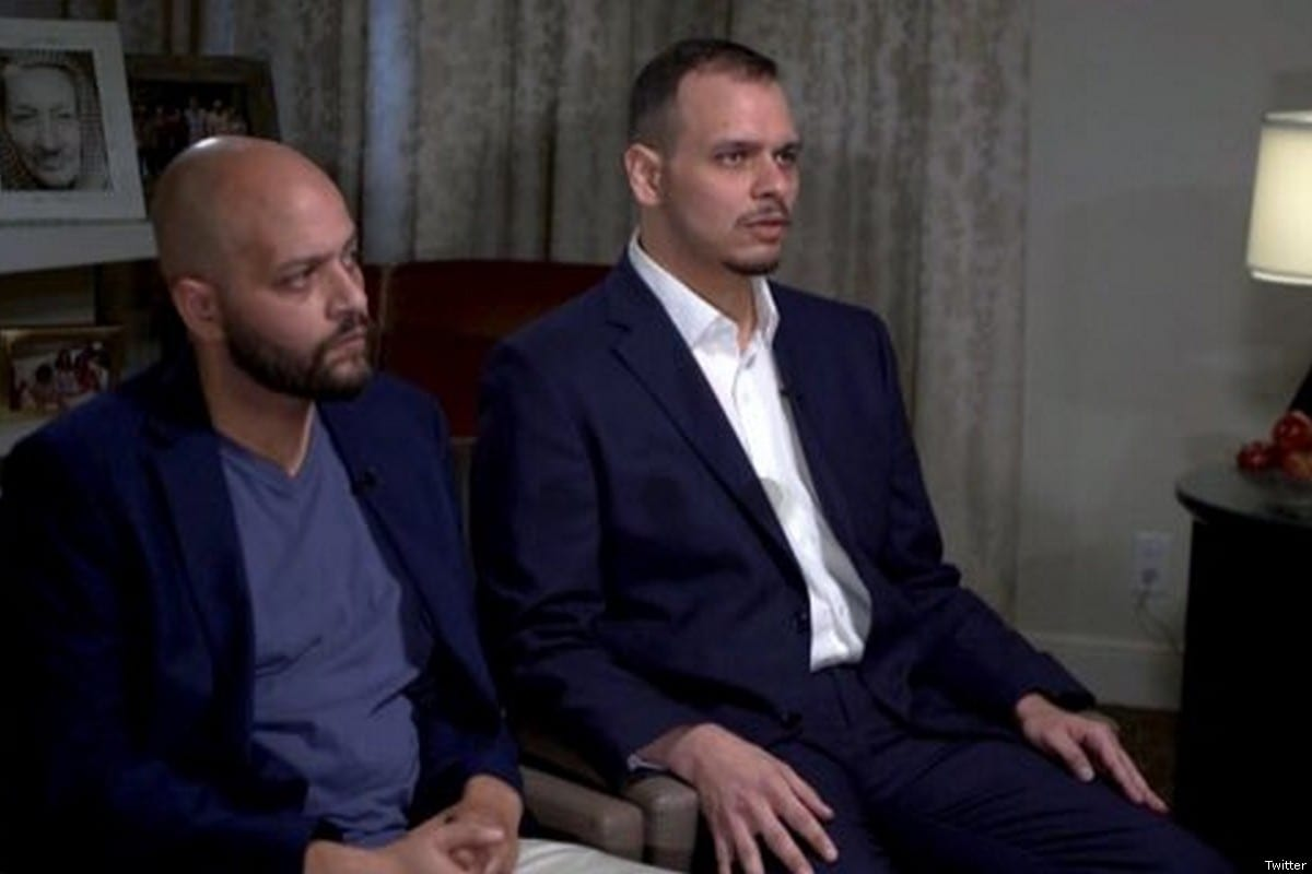 Salah and Abdullah Khashoggi, the sons of murdered journalist Jamal Khashoggi [Twitter]