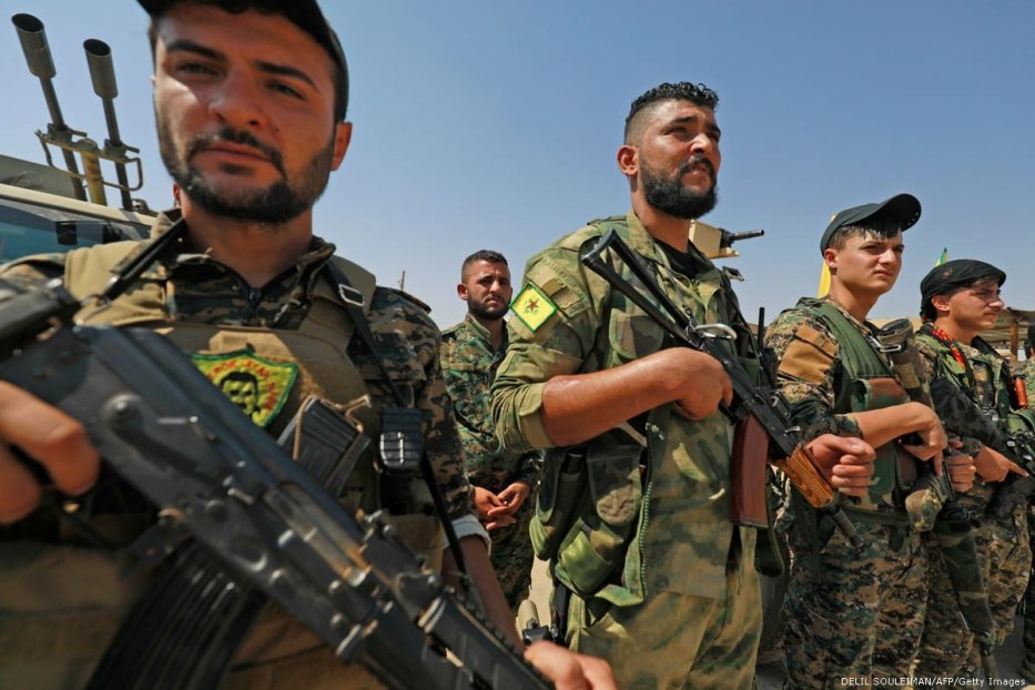 Members of the People's Protection Units (YPG),in Syria on 11 September 2018 [Souleiman/AFP/Getty Images]