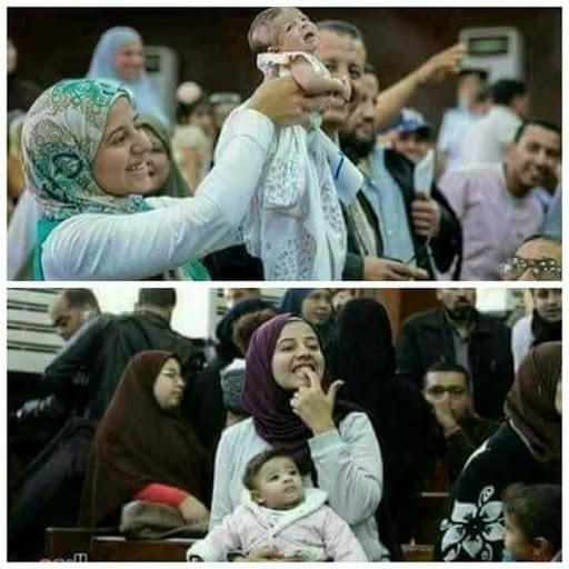 Laila can be seen in the court room while her father was on trail, charged with the assassination of Egypt's prosecutor-general Hisham Barakat