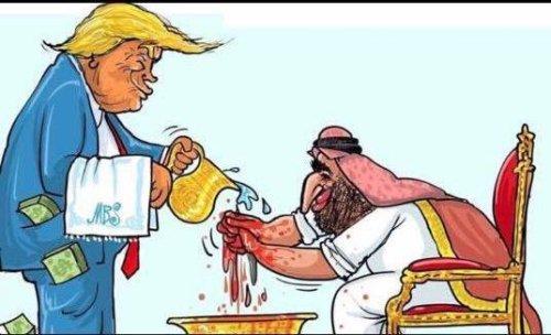 US President Donald Trump protects the Saudi Crown Prince, Mohammed bin Salman [Twitter]