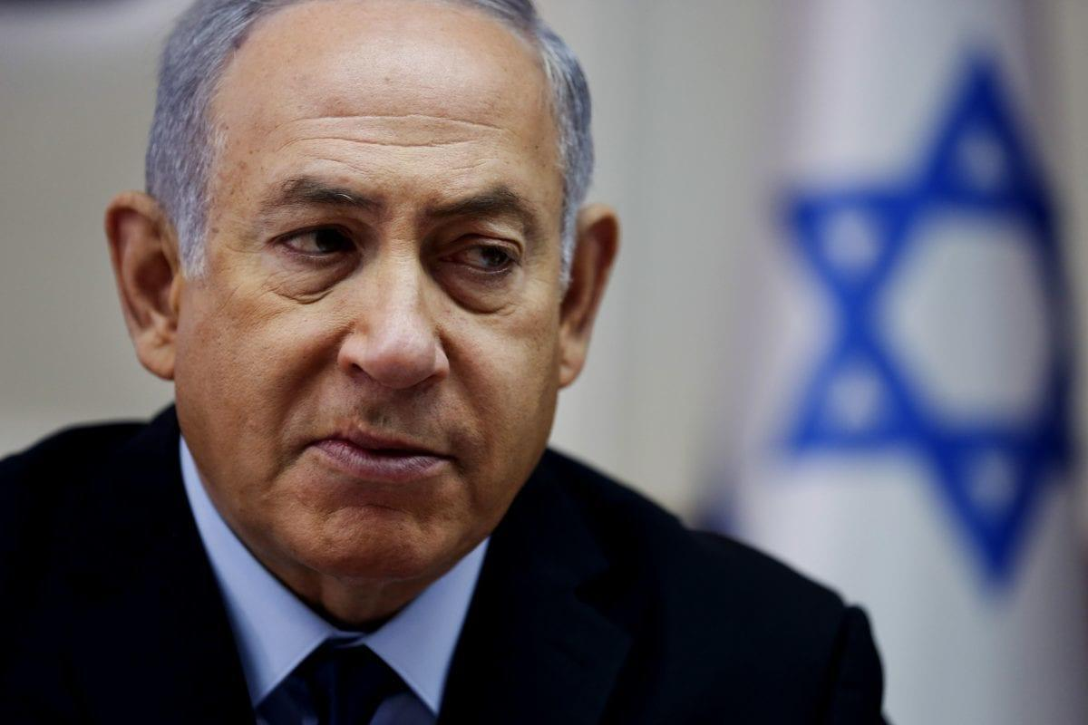 Israeli Prime Minister Benjamin Netanyahu on 28 October 2018 [ODED BALILTY/AFP/Getty Images]