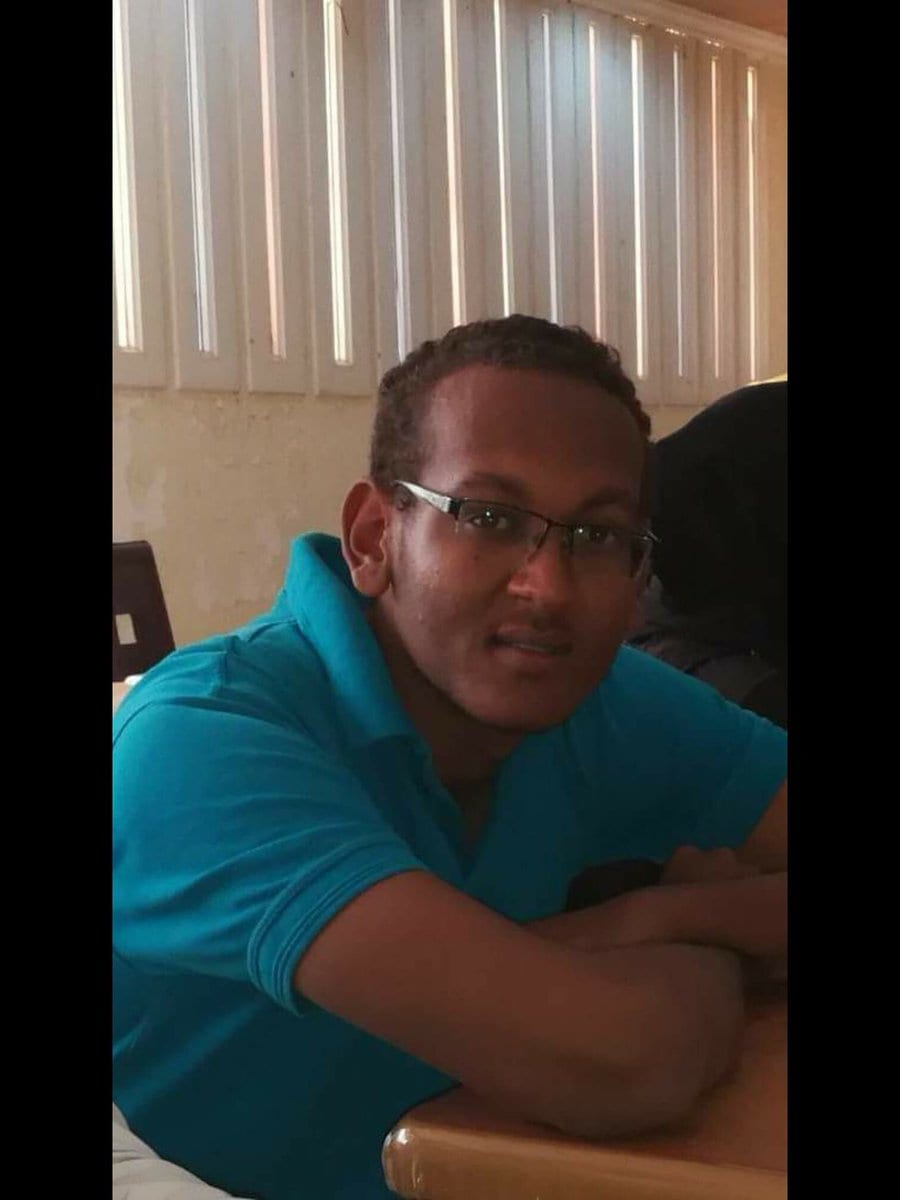 Abderrahman Asadig, a student at Khartoum University, who was detained by government forces three days ago and found dead [Twitter]