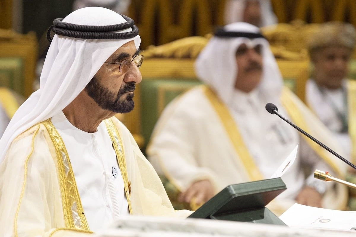 UAE Prime Minister and Emir of Dubai Sheikh Mohammed bin Rashid Al Maktoum attends the 39th Gulf Cooperation Council (GCC) Summit in Riyadh, Saudi Arabia on 9 December 2018. [Bandar Algaloud / Saudi Kingdom Council / Handout - Anadolu Agency]