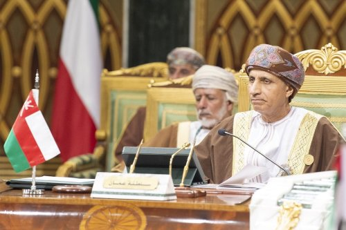 Deputy Prime Minister of Oman Fahd Bin Mahmoud Al Said (R) attends the 39th Gulf Cooperation Council (GCC) Summit in Riyadh, Saudi Arabia on 9 December 2018 [Bandar Algaloud/Anadolu Agency]