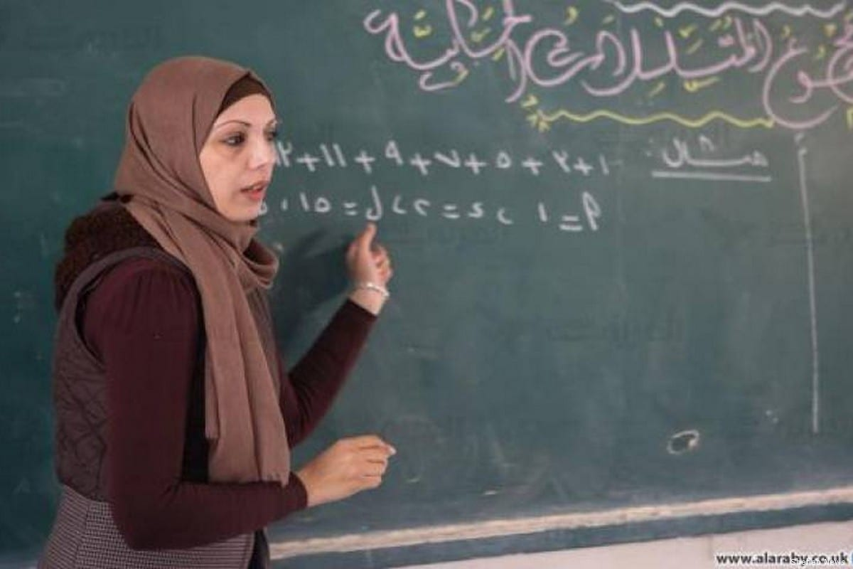 Palestinian teacher in Gaza Rana Ziadeh was chosen as among the top 50 teachers in the world [Shehab News]