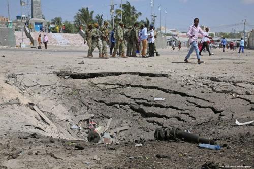The aftermath a suicide car bomb in Mogadishu, Somalia on 22 December 2018 [Sadak Mohamed/Anadolu Agency]