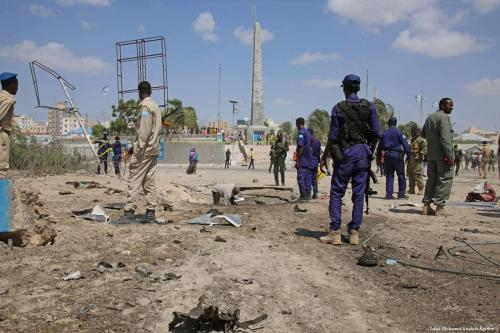 The aftermath a suicide car bomb in Mogadishu, Somalia on 22 December 2018 [Sadak Mohamed/Anadolu Agency]