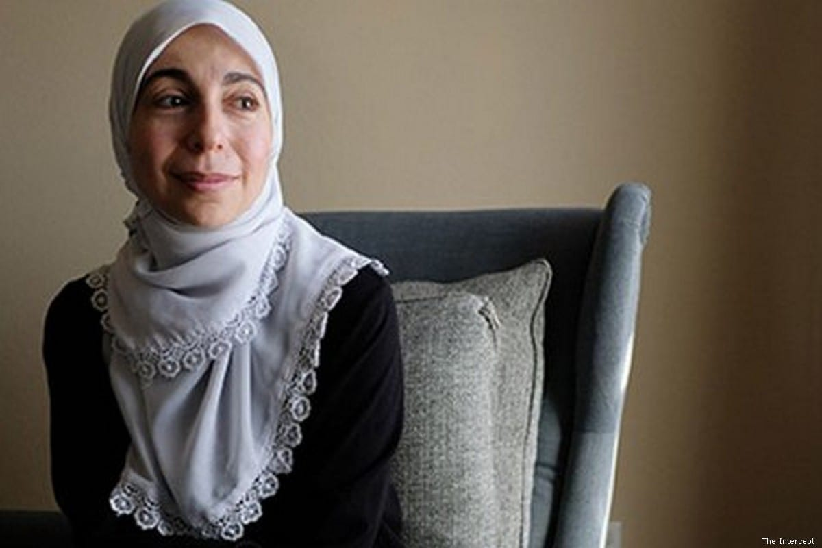 Bahia Amawi, a primary school teacher in Texas who was fired for refusing to sign an anti-BDS oath in her contract [Screenshot from The Intercept]