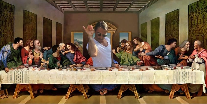 Artist Mohammed Al-Wakeel was arrested by Jordan after he published a piece depicting Turkish chef Salt Bae in Last Supper