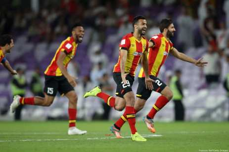 Taha Khenissi of ES Tunis celebrates victory following the penalty shoot out during the FIFA Club World Cup UAE 2018 5th Place Match between ES Tunis and CD Guadalajara at Hazza Bin Zayed Stadium on 18 December 2018 in Al Ain, United Arab Emirates. [Francois Nel/Getty Images]