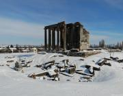 A view of Aizanoi Ancient City during winter in Kutahya province in Turkey on January 9, 209. Aizanoi city is in the Cavdarhisar township, 57 kilometres from Kutahya's city centre. The city has a temple built for Zeus which is the best-preserved temple in all of Anatolia. in Turkey on 9 January 2019 [Muharrem Cin/Anadolu Agency]
