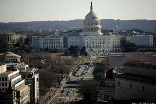 The U.S. Capitol is seen from the observation deck of the Old Post Office Tower 11 January 2019 in Washington, DC. [Chip Somodevilla/Getty Images]